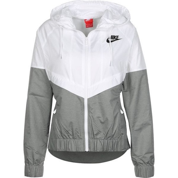 Nike White Grey Windbreaker Jacket. M 5b59f4062830958e9f5582f4 536b8c48e